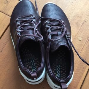 Ecco Biom leather tennis shoes